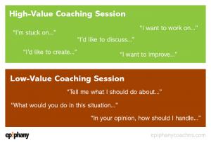 high-value coaching vs low-value coaching